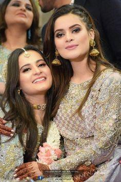 Aiman Khan Muneeb Butt Photoshoot on Engagement Pakistani Wedding Outfits, Pakistani Wedding Dresses, Bridal Outfits, Wedding Looks, Bridal Looks, Wedding Wear, Wedding Makeup, Wedding Bride, Summer Wedding