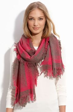 coral and taupe - Scarf