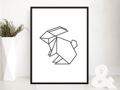 Hey, I found this really awesome Etsy listing at https://www.etsy.com/listing/209201888/affiche-pour-enfants-origami-lapin-ideal