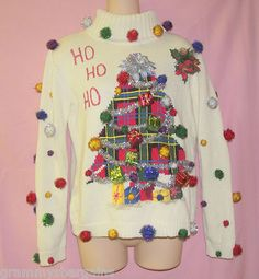 Ugly Tacky Christmas Holiday Party Sweater Size S Custom Design One Of A Kind on eBay