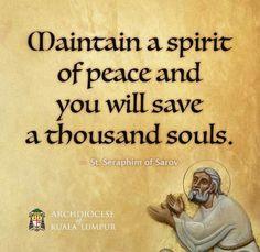 St. Searaphim of Sarov on 'Peace'