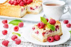 Malinová torta s tvarohom