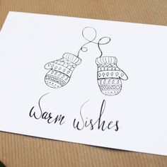 Warm wishes, christmas, new years card, postcard, hand drawn quotes hand drawn Dit item is niet beschikbaar Christmas Cards Drawing, Christmas Doodles, Diy Christmas Cards, Xmas Cards, Merry Christmas Wishes Text, Karten Diy, New Year Card, Hand Lettering, How To Draw Hands