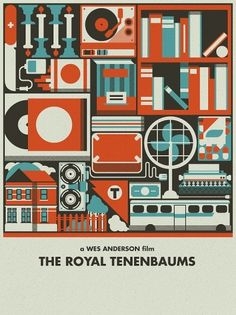 Royal Tenenbaums art - Justin . Also reminds me of Yiddish Policemen's Union design - the colors, the sharp lines.