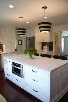 Kitchen Island With Hidden Paper Towel Holder U0026 Microwave Oven Drawer