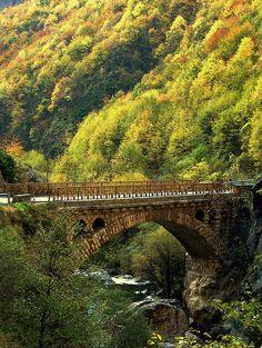 Rugova Mountain Bridge. KOSOVO