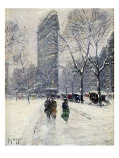 New York: Flatiron, 1919 Giclee Print by Guy Wiggins at Art.com