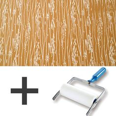 1-Colour Pattern Paint Roller STARTER PACK  Wood by Decorette