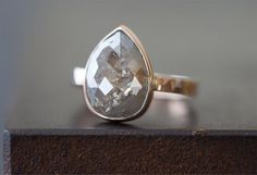 Large Natural Grey Rose Cut Diamond Ring                                     – Alexis Russell