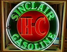 Original Sinclair Gasoline Neon Sign