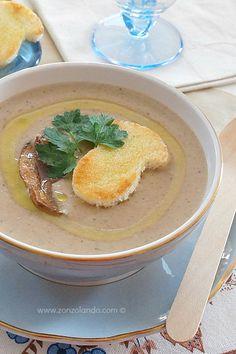 Vellutata di funghi porcini - Mushroom soup | From Zonzolando.com