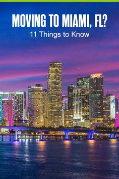 Thinking about moving to Miami? The second largest city in Florida is home to great professional sports teams, a highly-rated education system, a thriving arts scene, and much more. Here are 11 things to know before living in Miami! Moving To Miami, Moving To Florida, Miami Living, Florida Living, Miami Skyline, Caribbean Culture, Miami Life, Florida City, Magic City