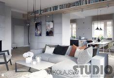 Projekt salonu-kamień, drewno - zdjęcie od MIKOŁAJSKAstudio - Salon - Styl Industrialny - MIKOŁAJSKAstudio