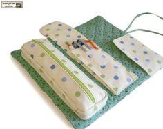 Pouches sewing pattern makeup bag pattern by NapkittenPattern