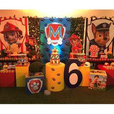 Decor por e no ! Niece Birthday, Third Birthday, Happy Birthday, Paw Patrol Birthday Decorations, Snow Party, Avengers Birthday, Paw Patrol Party, Heart For Kids, Party Time