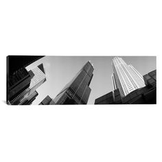 """East Urban Home Panoramic Sears Tower, Chicago, Illinois Photographic Print on Canvas Size: 20"""" H x 60"""" W x 1.5"""" D"""