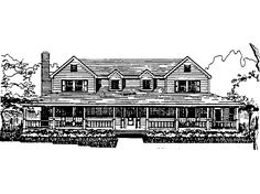 Eplans Farmhouse House Plan - Five Bedroom Farmhouse - 2758 Square Feet and 5 Bedrooms(s) from Eplans - House Plan Code HWEPL62541