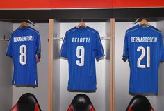 A general view of the Italy dressing room prior to the International Friendly Match between Italy and Germany at Giuseppe Meazza Stadium on November 15, 2016 in Milan, Italy.
