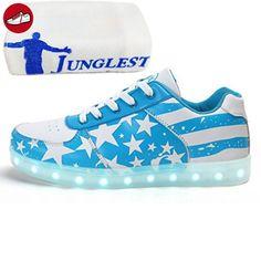 (Present:kleines Handtuch)Gold 39 EU USB Sneaker 7 Schuhe Aufladen Sportschuhe JUNGLEST(TM) Sport LED Damen Unisex-Erwachsene mode JUNGLEST Herren ez4R5PUNN