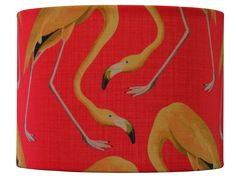 Just in love with this flamingo fabric!! such a bold statement!