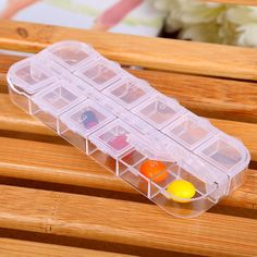 [Visit to Buy] New 12 spaces Weekly Tablet Pill Medicine Box Holder Storage Organizer Container Case Pill Box Medicine Container home use 19050 #Advertisement Bead Organization, Bead Storage, Container Organization, Jewellery Storage, Storage Boxes, Pill Box Organizer, Plastic Organizer, Organiser Box, Plastic Storage