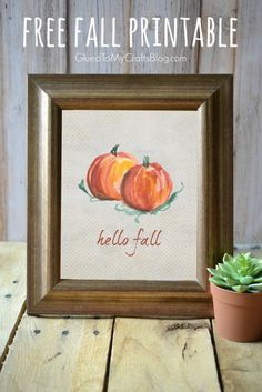 Hello Fall - Free Printable