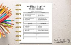 Happy Planner Cleaning Printable Happy by NatalieRebeccaDesign