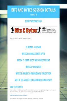 Bits and Bytes Session Details - Term 4 by Belinda Stanton Aboriginal Education, Education Week, Detail
