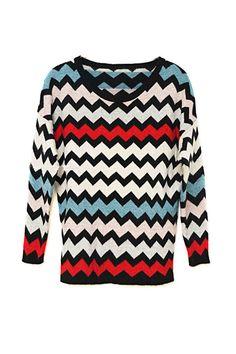 aztlan zigzag sweater by the quiet riot