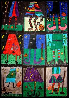 witch lesson more craft fall art art lessons artists halloween witches . Halloween Kunst, Image Halloween, Halloween Art Projects, Theme Halloween, Halloween Arts And Crafts, Fall Art Projects, Classroom Art Projects, School Art Projects, Art Classroom