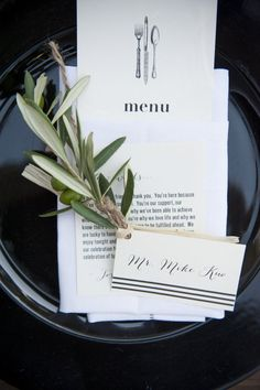 Photography: Viera Photographics; Entice Your Guests with These Lovely Wedding Menu Stationery Ideas