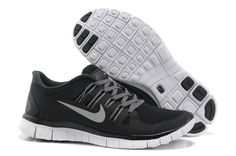 Nike Free 5.0 Black Grey Silver Women's Shoes . womens shoes cheap sale ,sport and fashion