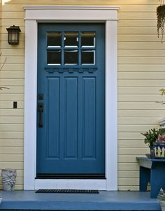 Finding the perfect door color took forever... makes me happy everyday.