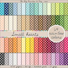 SMALL HEARTS LOVE Pattern  digital scrap paper by TheDigiRainbow. INSTANT DOWNLOAD BUY NOW AND GET 20% OFF
