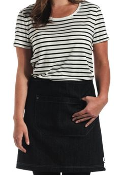 The Scout Short Waist apron in black denim is a uniform essential. More at http://cargocrew.com.au