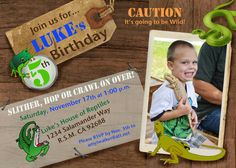 Custom Photo Reptile Party Invitation by lilbeansprout on Etsy, $20.00