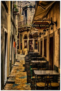Souvlaki in Corfu town Beautiful Islands, Beautiful Places, Villas In Corfu, Europe Street, Corfu Town, Corfu Island, Living In Europe, Adventure Is Out There, Greek Islands