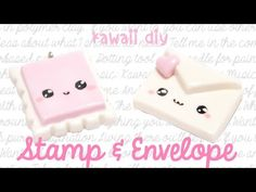 Kawaii Stamp & Envelope Polymer Clay Tutorial