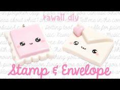 Kawaii Stamp & Envelope Polymer Clay Tutorial