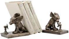 Cool Dog Bookends - Set of 2 - Dog Bookends - Brass Bookends - Decorative Bookends | HomeDecorators.com