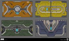 ArtStation - Doom 2016 Snap Map Doors , Bryan Flynn