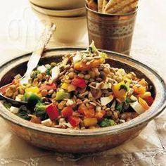 Foto recept: Linzensalade uit het Midden-Oosten