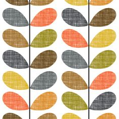 Scribble Stem wallpaper Orla Kiely