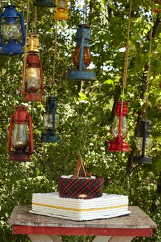 Retro Lanterns. Bring back rustic lanterns as truly campy baby shower accents.