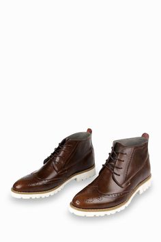 Brogue Oxford Boots In Bronze