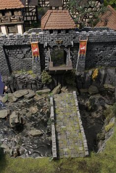 Model Castle, Warhammer Empire, Dungeons And Dragons Game, Warhammer Terrain, Game Terrain, Game Environment, Castle Wall, Wargaming Terrain, Architecture Old