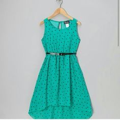Take a look at this Mint Heart Hi-Low Dress - Girls on zulily today! Hi Low Dresses, Dresses For Teens, Outfits For Teens, Casual Dresses, Girls Dresses, Summer Dresses, Dresses Dresses, Pretty Outfits, Pretty Dresses