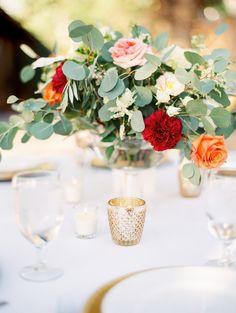 Denver Colorado wedding venue - Villa Parker - centerpiece, flowers, florals