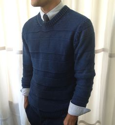 You would have looked so handsome dressed like this. ❤️😢 NYFW by the Details: Raleigh's Indigo Sweater - New York Fashion Week Spring Summer 2014 Men - Esquire Business Casual Men, Men Casual, Spring Summer Fashion, Autumn Fashion, Mens Fashion, Fashion Outfits, Looks Style, Men Looks, Stylish Men