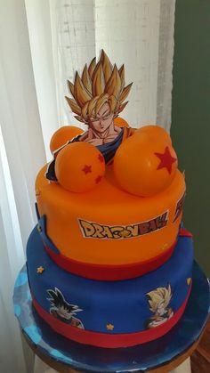 Dragon Ball Happy Birthday Parties, Birthday Celebration, Tarta Dragon Ball, Naruto Party Ideas, First Birthdays, Birthday Cake, Gabriel, Food, Ball Birthday